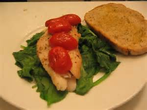 Cilatro Lime Tilapia with Spinach and Tomatoes